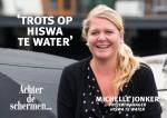 Michelle Jonker Daemes en Heeren Hiswa te water