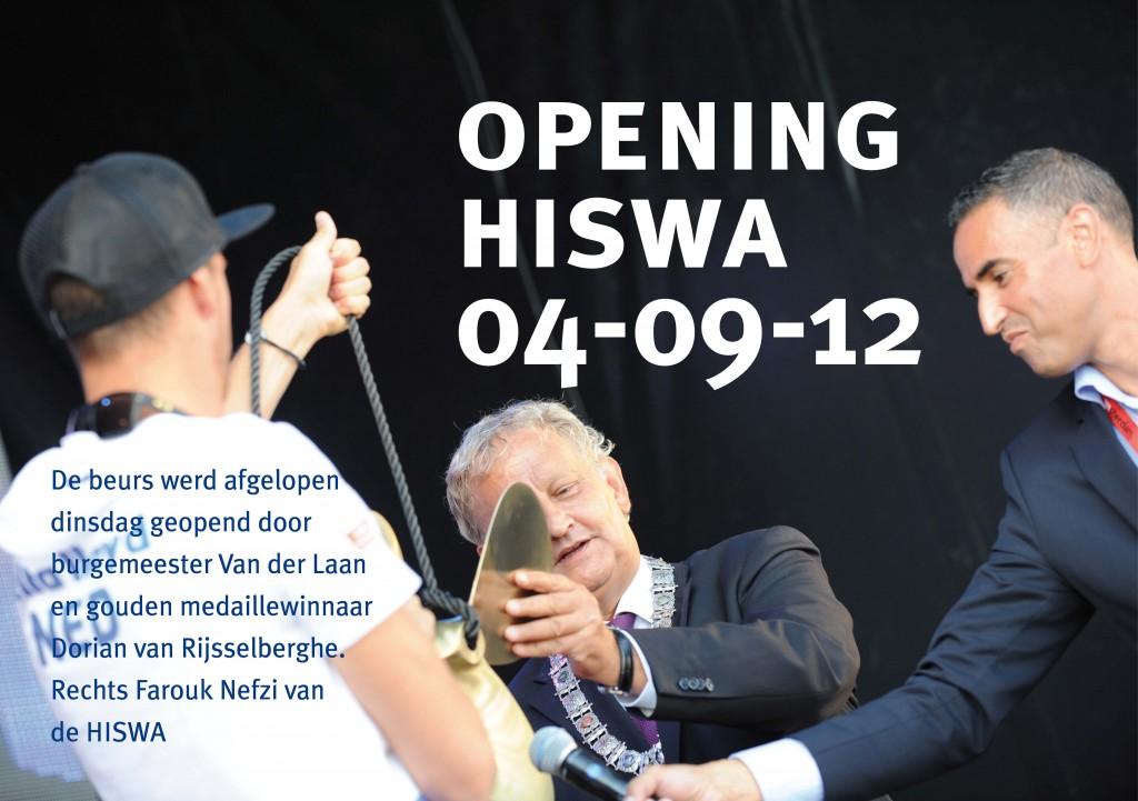 Burgemeester van der Laan Amsterdam Opening HISWA te Water 2012 Sloepen Cabins Tenders Sloepenboekje Daemes en Heeren Sloep Tender Cabin Sloepenkaart Sloepenpost