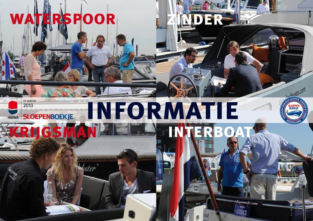 Waterspoor Krijgsman Watersport Interboat Intender Intercruiser Zinder Boats HISWA te Water 2013 Sloepen Cabins Tenders Sloepenboekje Daemes en Heeren Sloep Tender Cabin Sloepenkaart Sloepenpost