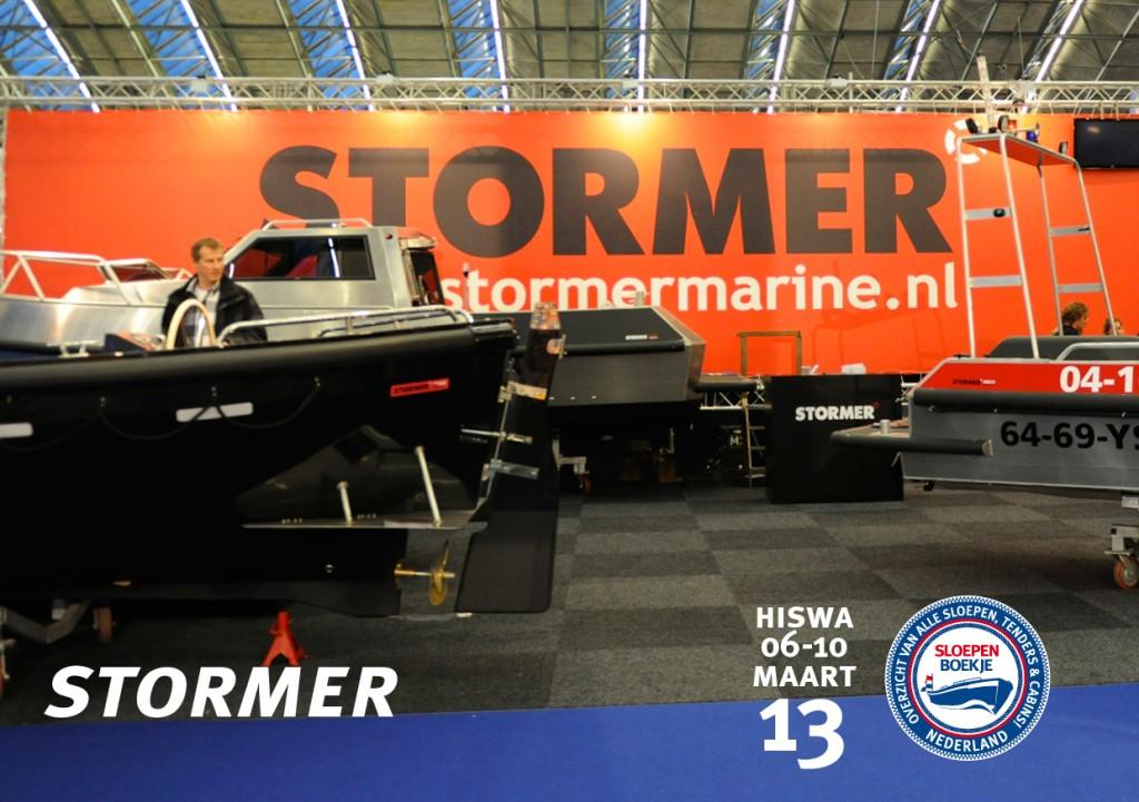 Stormer Marine Hiswa Amsterdam 2013 Sloepen Cabins Tenders Sloepenboekje Daemes en Heeren Sloep Tender Cabin Sloepenkaart Sloepenpost
