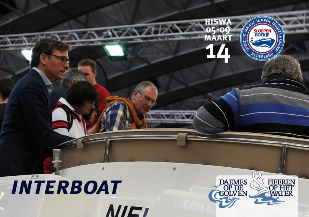 Interboat Intender Intercruiser Hiswa Amsterdam 2014 Sloepen Cabins Tenders Sloepenboekje Daemes en Heeren Sloep Tender Cabin Sloepenkaart Sloepenpost
