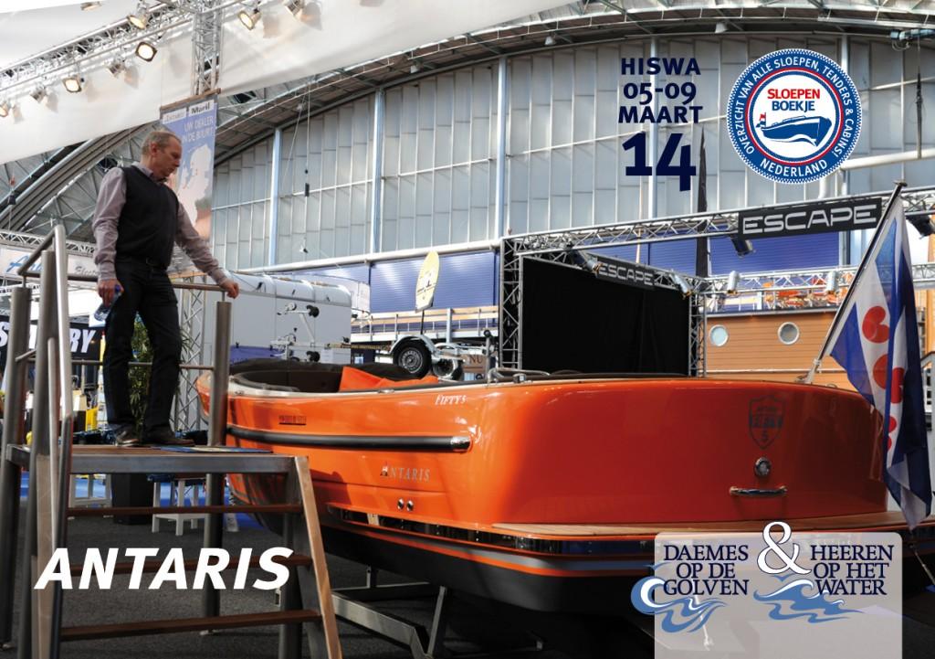 Antaris Fifty 5 Antaris Maril Makma Hiswa Amsterdam 2014 Sloepen Cabins Tenders Sloepenboekje Daemes en Heeren Sloep Tender Cabin Sloepenkaart Sloepenpost