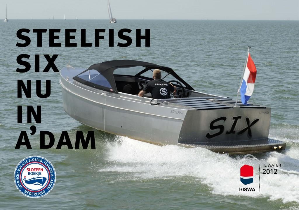 Steelfish Six HISWA te Water 2012 Sloepen Cabins Tenders Sloepenboekje Daemes en Heeren Sloep Tender Cabin Sloepenkaart Sloepenpost