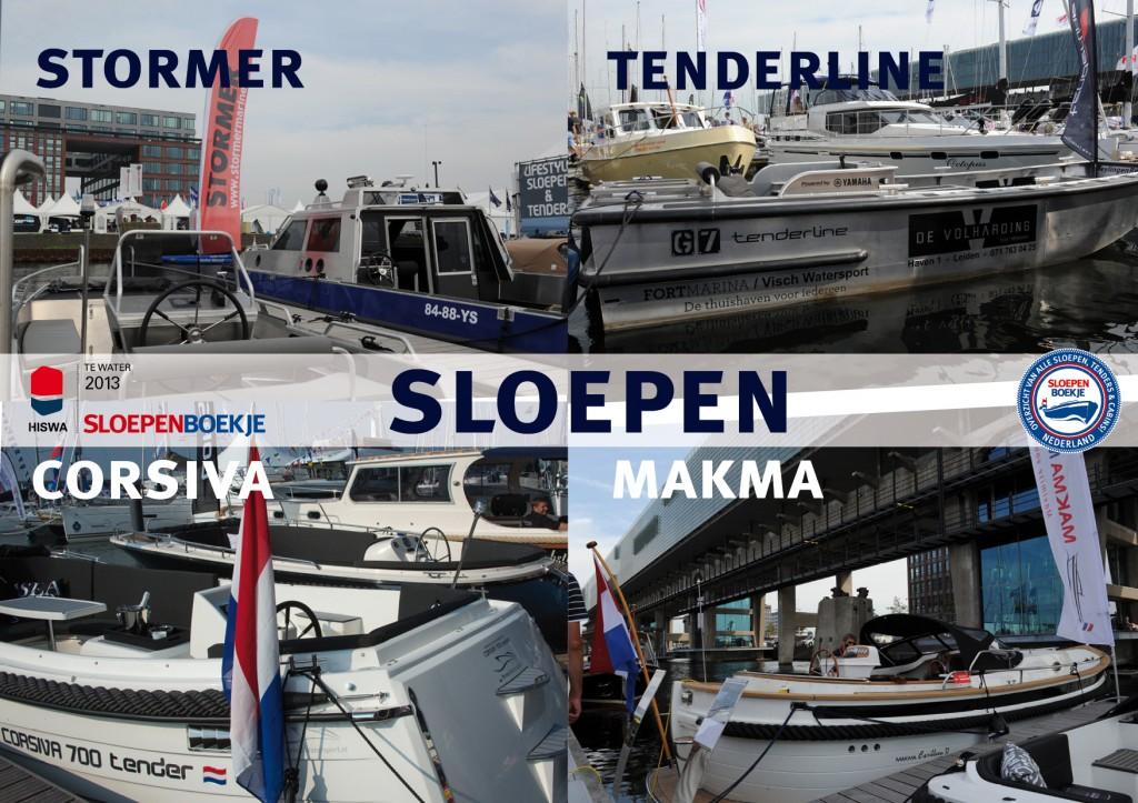 Stormer Marine Tenderline Corsiva Makma HISWA te Water 2013 Sloepen Cabins Tenders Sloepenboekje Daemes en Heeren Sloep Tender Cabin Sloepenkaart Sloepenpost