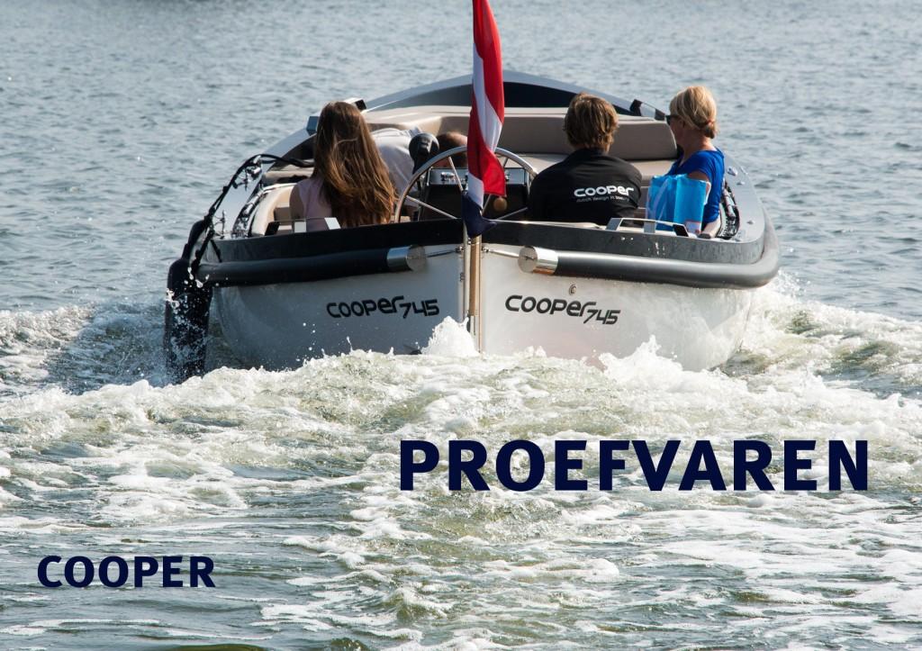 Cooper 745 Proefvaren HISWA te Water 2013 Sloepen Cabins Tenders Sloepenboekje Daemes en Heeren Sloep Tender Cabin Sloepenkaart Sloepenpost