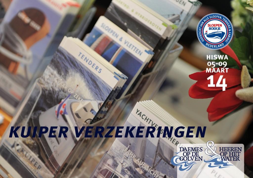 Kuiper Verzekeringen Hiswa Amsterdam 2014 Sloepen Cabins Tenders Sloepenboekje Daemes en Heeren Sloep Tender Cabin Sloepenkaart Sloepenpost