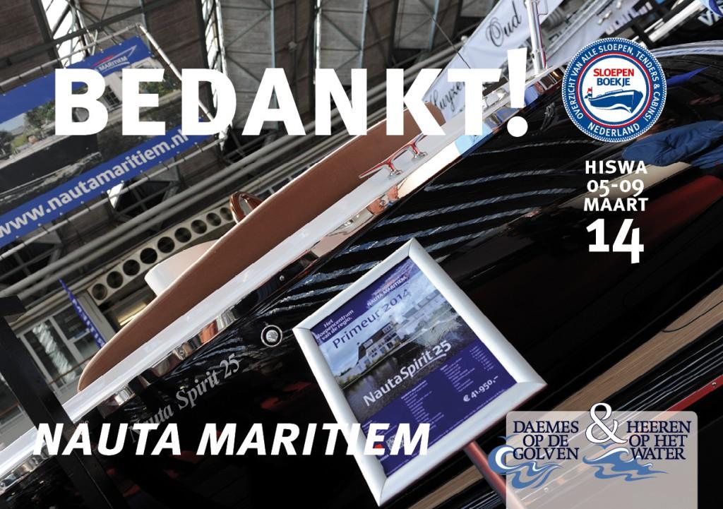 Nauta Maritiem Hiswa Amsterdam 2014 Sloepen Cabins Tenders Sloepenboekje Daemes en Heeren Sloep Tender Cabin Sloepenkaart Sloepenpost