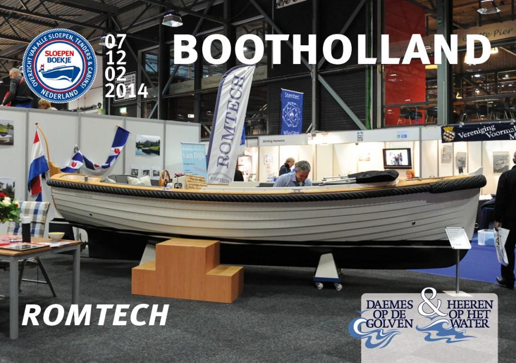 Romtech Boot Holland Leeuwarden 2014 Sloepen Cabins Tenders Sloepenboekje Daemes en Heeren Sloep Tender Cabin Sloepenkaart Sloepenpost