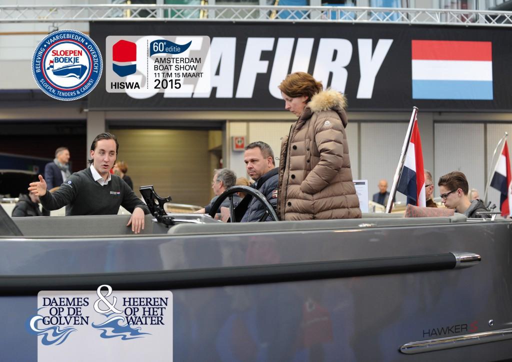 Seafury Hiswa 2015 Amsterdam Daemes en Heeren Sloepen Tenders Cabins Sloepenboekje Sloepenpost Sloep Sloepenkaart Piraatjes op het Water