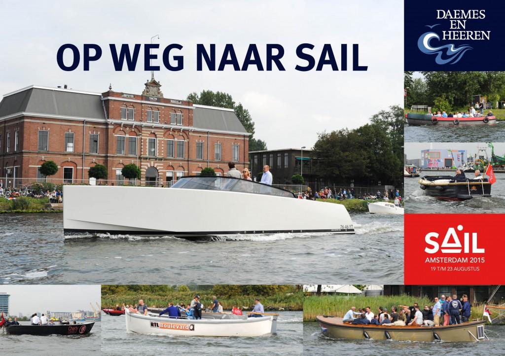 Antaris sloep Van Dutch Sail 2015 Daemes en Heeren Sloepen Tenders Cabins Sloepenboekje Sloepenkaart Amsterdam Beleving Sloepenpost Sloep!