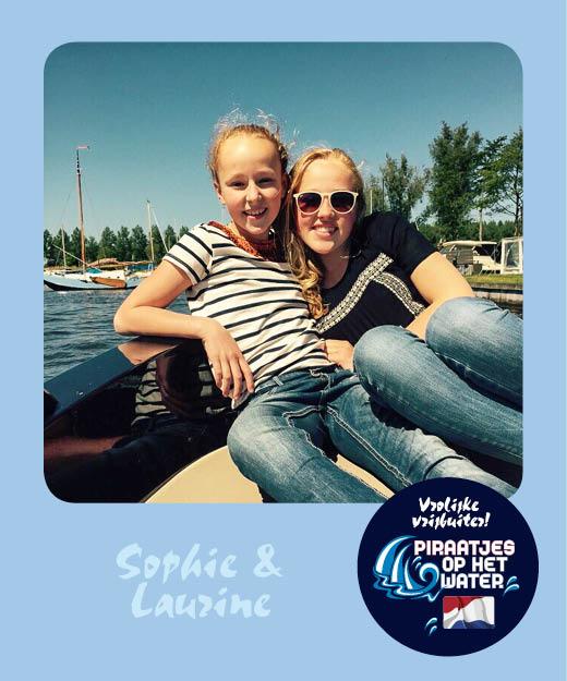 Sophie en Laurien Piraatjes op het water Daemes en Heeren Sloepenpost Alles over sloepen Kinderen aan boord Spelletjes voor op het water