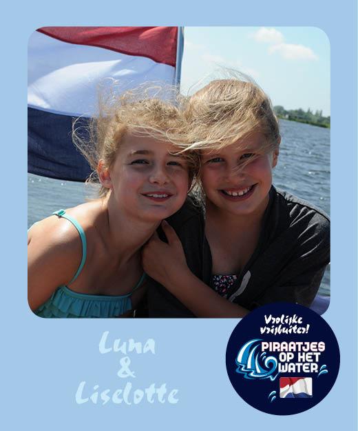 Luna en Liselotte Piraatjes op het water Daemes en Heeren Sloepenpost Alles over sloepen Kinderen aan boord Spelletjes voor op het water