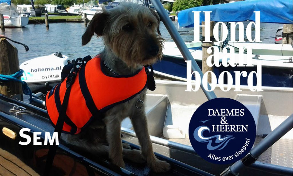 Sem Hond aan Boord Daemes en Heeren Sloepen Tender Cabins Sloepenpost Sloepenkaart Alles over sloepen Sloepenboekje Honden aan boord Trouwe viervoeters