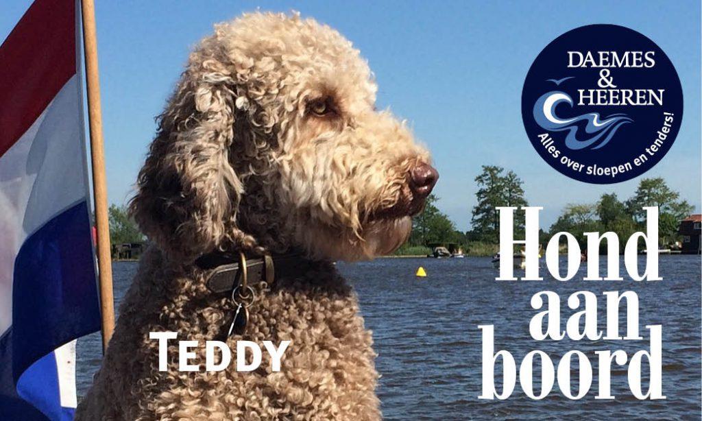 Teddy Hond aan Boord Daemes en Heeren Sloepen Tender Cabins Sloepenpost Sloepenkaart Alles over sloepen Sloepenboekje Honden aan boord Trouwe viervoeters