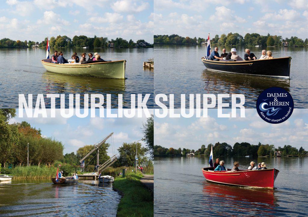 Sluiper 21, Jachtwerf Reeuwijk, Elektrische sloep, Daemes en Heeren, Sloepenkaart Reeuwijk, Sloepenboekje, aan het roer met... Alles over sloepen en tenders, SLOEP! Elektrisch varen